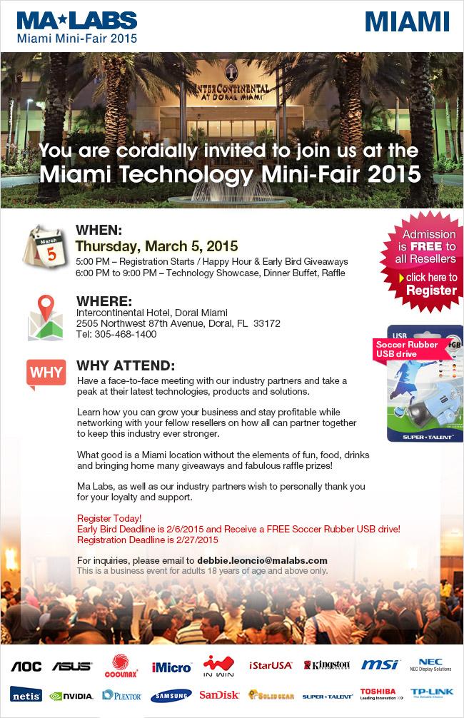 Invitación a registrarse para participar en el MaLabs MiniFair 2015