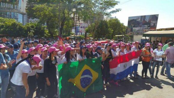 Movilizaciones en toda la frontera de Paraguay Ciudad del Este