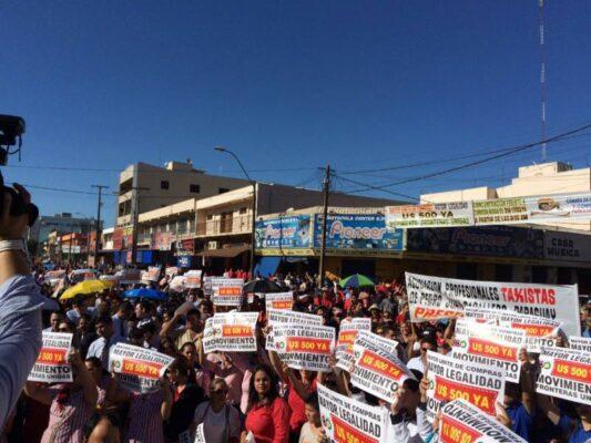 Movilizaciones en toda la frontera de Paraguay Pedro Juan Caballero